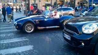 Supercars in Paris part 6 Mars 2014 Lamborghini aventador , 458 speciale and more