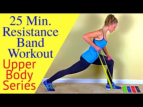25 Min. Upper Body Resistance Band Workout-Tighten & Tone Lean Sculpted Arms