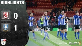 Middlesbrough v Sheffield Wednesday | Extended highlights | 2018/19