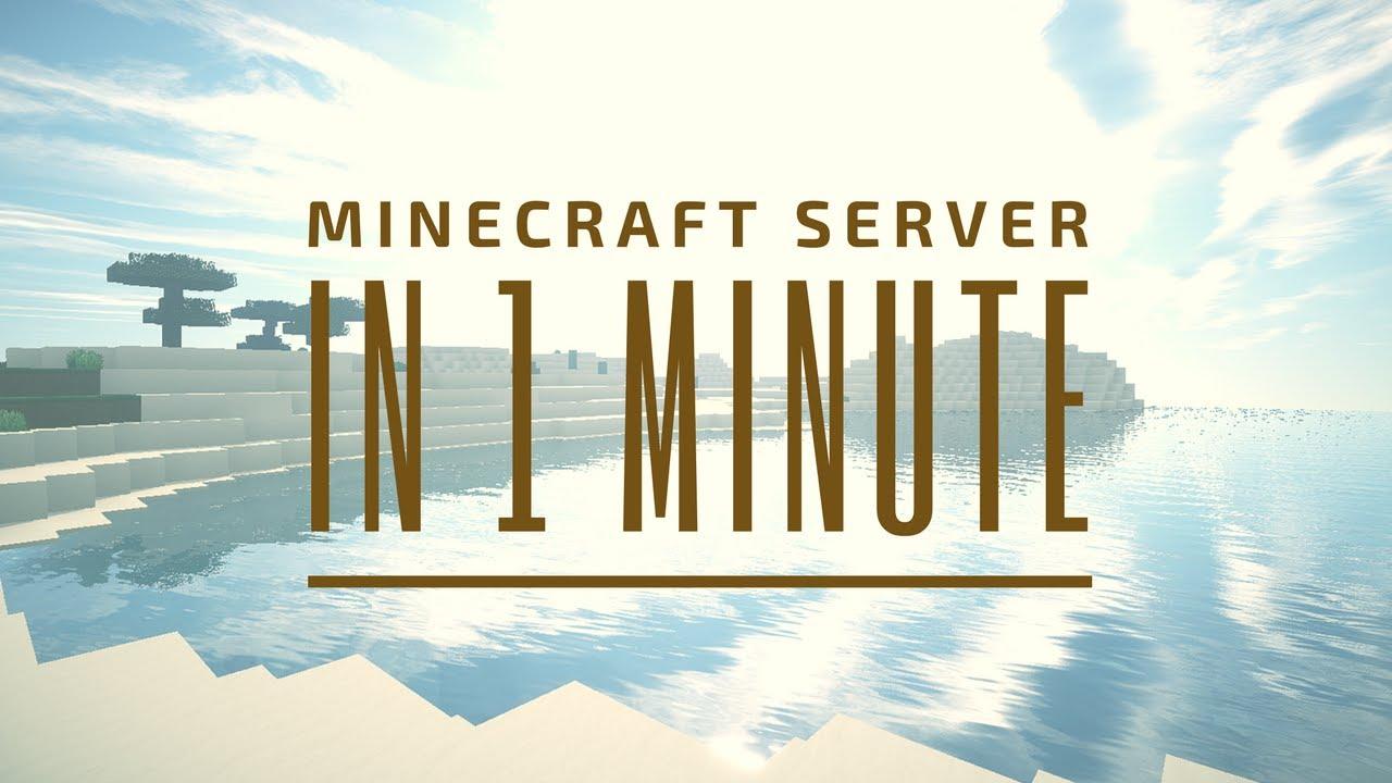 IN MINUTE Eigenen MINECRAFT SERVER ERSTELLEN VanillaSpigot - Minecraft server erstellen vanilla