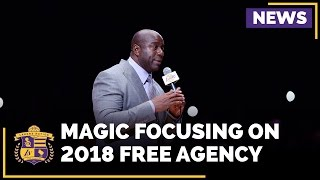 Magic johnson intends to preserve cap space, focus on 2018 free agency