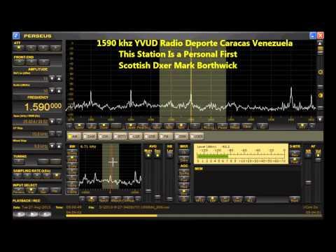 MW Dxing 1590 khz Radio Deporte Caracas Venezuela Received In Scotland with Perseus and KAZ array