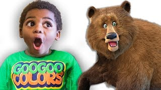 BROWN BEAR WHAT DO YOU SEE? Educational Pretend Play Story with Lightning McQueen & Goo Goo Colors