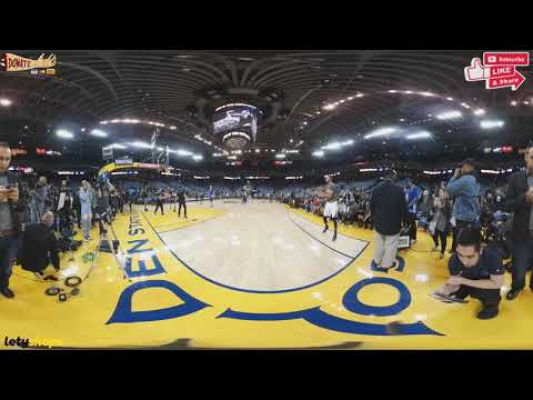 Stephen Curry Pre Game 3 Pointers in 360 Degrees