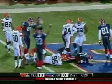 2008 Bills vs Browns Week 11 MNF Highlights (Wide Right II)