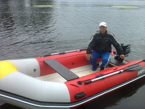 Надувная лодка RIB 350, РИБ. Обзор тестирование отзыв  лодка RIB .