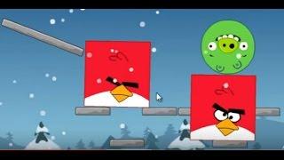 Мультик ИГРА для детей про энгри бердз уровень 12 Angry birds Злые птички энгри бердз против свинок