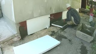 видео Отделка фундамента деревянного дома снаружи