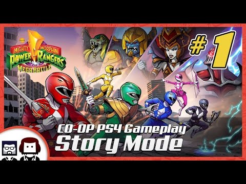 POWER RANGERS Mega Battle PS4 CO-OP Story Mode: Teenagers with Attitude - PART 1 - BlockHead Gaming