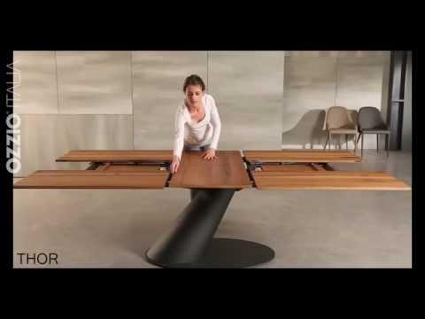 Extendable design table THOR by Ozzio Italia   space saving furniture