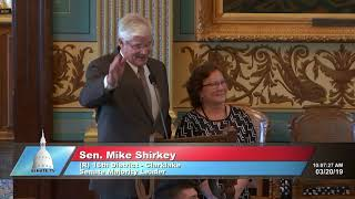 Sen. Shirkey recognizes Terry Edwards for her service to the Michigan Senate