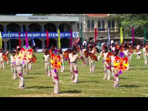 St.Josephs college Annual Primary sports meet DRILL DISPLAY