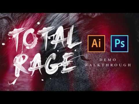 Total Rage SVG - Photoshop and Illustrator Tutorial thumbnail