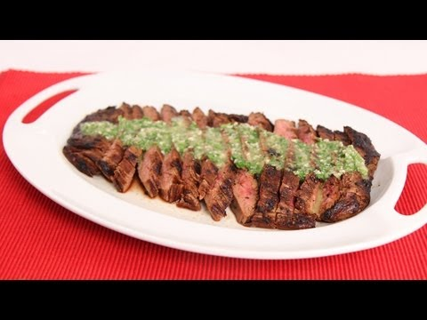Grilled Flank Steak with Chimichurri Recipe - Laura Vitale - Laura in the Kitchen Episode 625