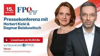 Aktuelle sozialpolitische Fragen: Pressekonferenz mit Herbert Kickl und Dagmar Belakowitsch