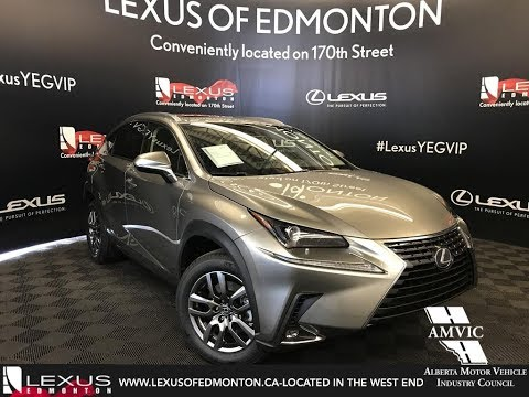 Silver 2018 Lexus NX 300h Premium Package Walkaround Review Downtown Edmonton Alberta