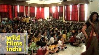 Morning prayers at Shri Ram School
