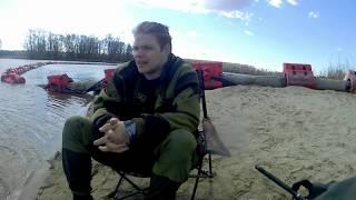 VLOG Рыбалка на песчаном карьере на фидер Съёмка с GoPro Ловля мирной рыбы