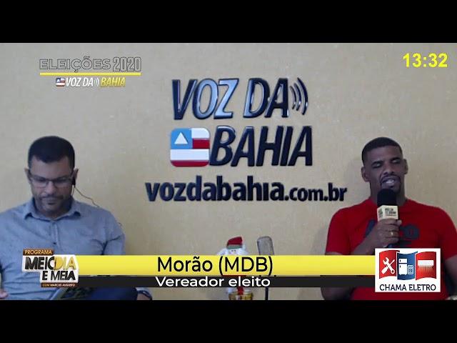 Meio-dia e meia live Morão (MDB) vereador eleito em Santo Antônio de Jesus