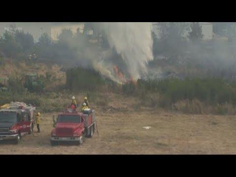 Brush fire in Longview