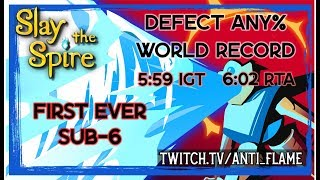 Slay the Spire Speedrun - 5:59 Defect Any% Unseeded [World Record]