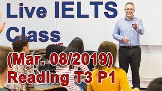 IELTS Live Class - Reading Example and Strategy for Band 9