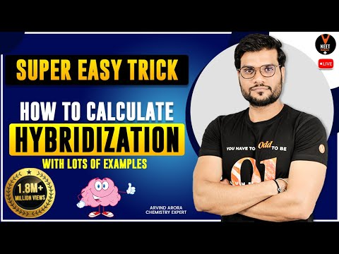 Super Easy Trick   How to Calculate HYBRIDIZATION   with Lots of Examples
