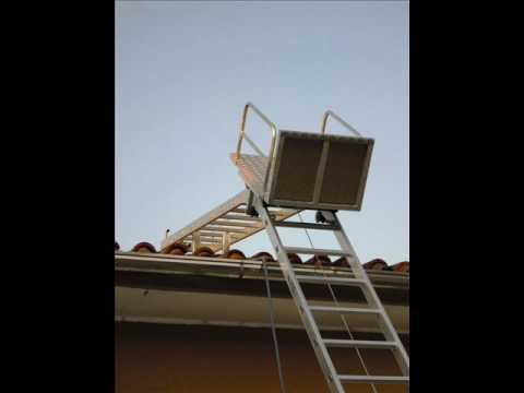Ese Ladder Lift And Roofing Hoist Youtube