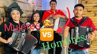 RETO - Guerra De Acordeones - Hombres VS Mujeres - melody band acordeon class - varias canciones