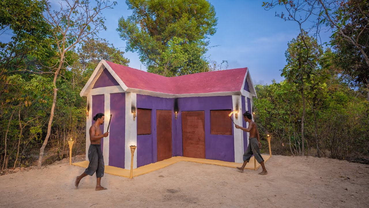 Build The Most Beautiful House Villa Using Bamboo and Wood Structure