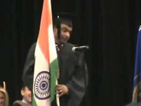 Indian at graduation speech - A last night ! Awesome Just share it !