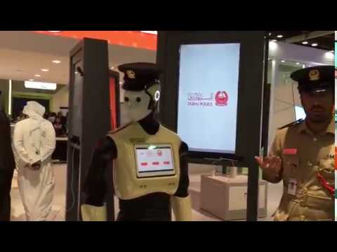 DUBAI POLICE ROBOT COP WORLD EXPO 2020 GITEX