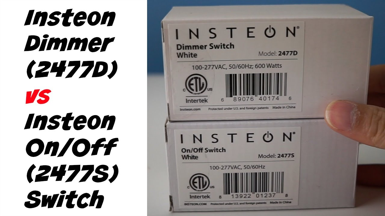 Home Automation Insteon Dimmer vs OnOff Switches Unboxing YouTube