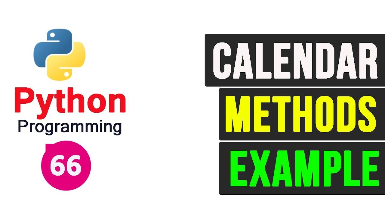 Python Programming Tutorial - Calendar Module
