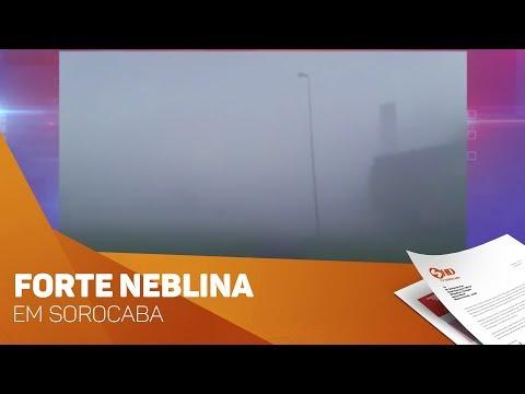 Forte neblina em Sorocaba - TV SOROCABA/SBT