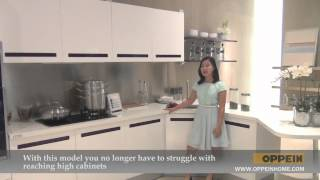 Kitchen Furniture - Modern Kitchen - Purple Mixed With White Kitchen Cabinet