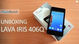 Lava Iris 406Q Unboxing - Snapdragon 200 Quad-core, 1 GB RAM under 7k