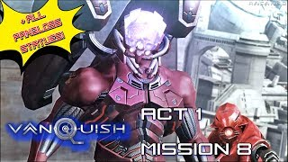Vanquish (100%) walkthrough Act 1 Mission 8