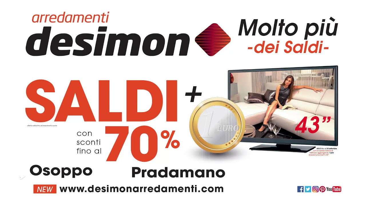 Saldi Desimon settembre 2017 -5 - YouTube
