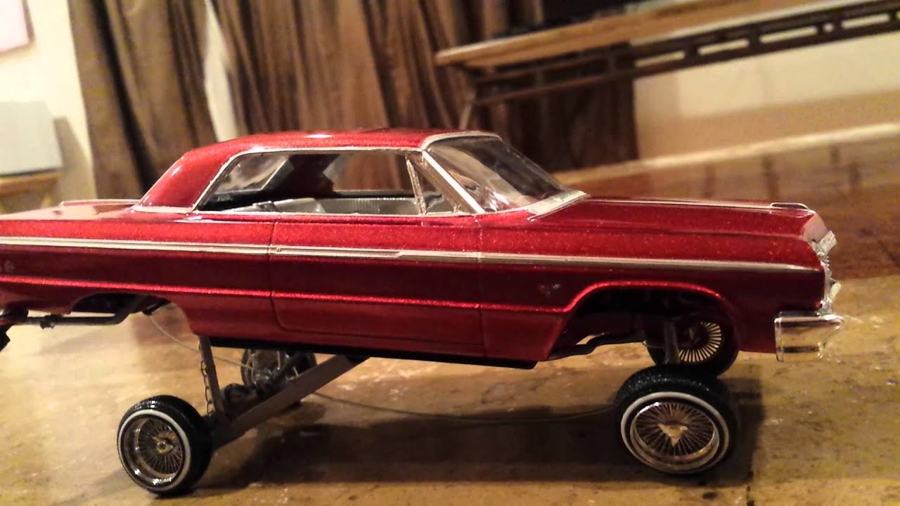 64 impala lowrider model car hopper youtube. Black Bedroom Furniture Sets. Home Design Ideas
