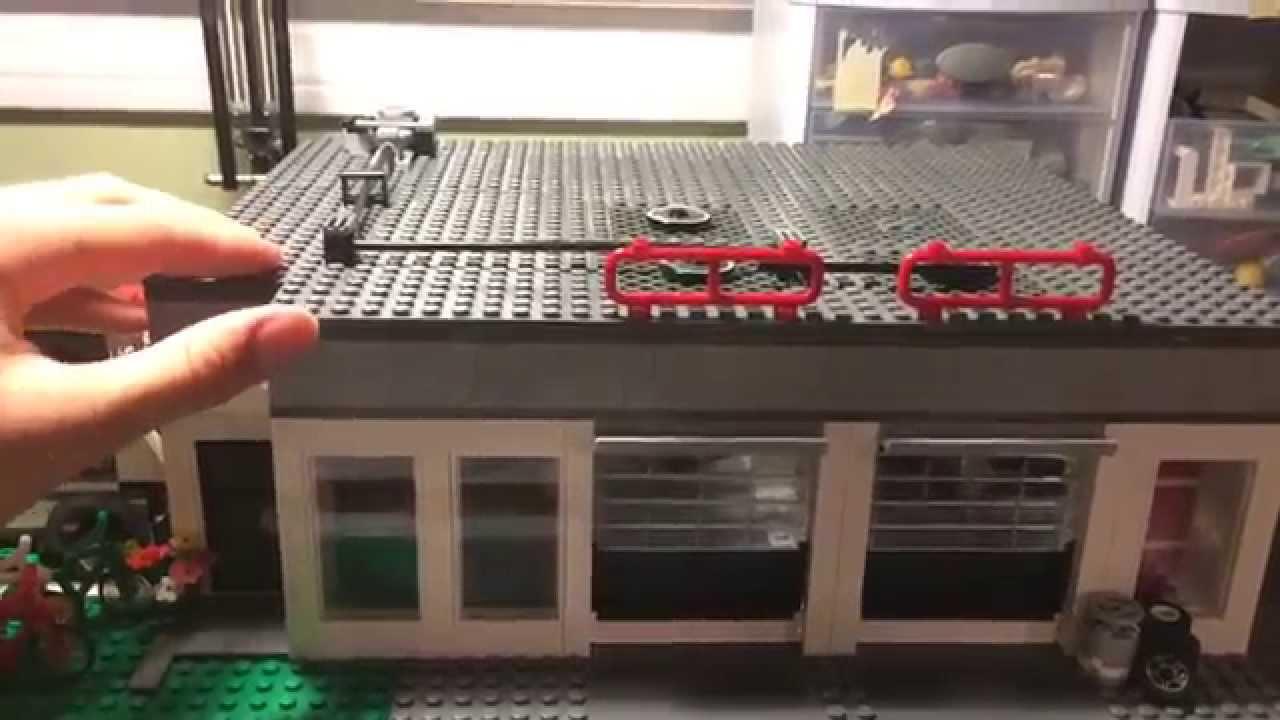 Custom lego 2 car garage moc update 2 youtube for Garage auto city cadaujac