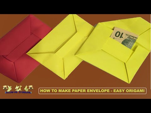 How to Make Paper Envelope - Origami Folds - Do it Yourself