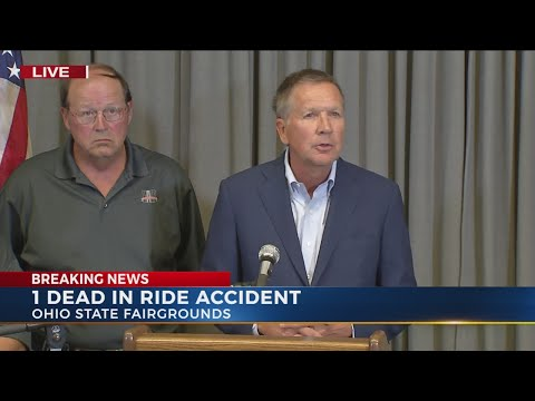 Governor Kasich holds press conference on Ohio State Fair accident