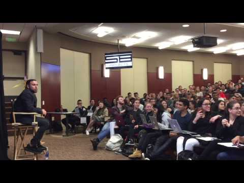 Singing Audition in USC Class | Scooter Braun | 2017