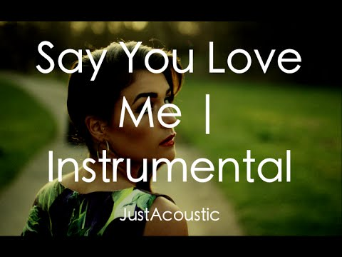 Say You Love Me - Jessie Ware (Acoustic Instrumental)