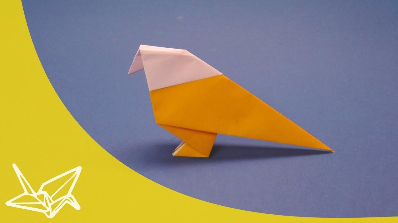 Wellensittich Origami Vogel Anleitung Youtube