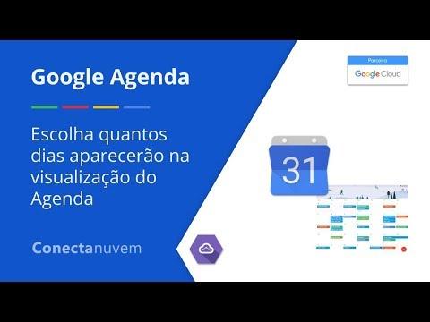 Como escolher quantos dias aparecerão na sua Agenda - Google Agenda