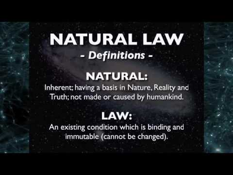 LifeEducated - Universal Cosmic Natural Moral Law (Natural Law)