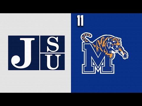2019 College Basketball Jackson State Vs #11 Memphis Highlights