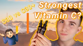 The strongest vitamin C? Medik8 c30 plus vs c30 (and results)